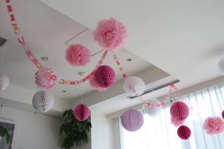 天井のデコレーションはこんな ... : 七夕飾り付け 折り紙 : 七夕